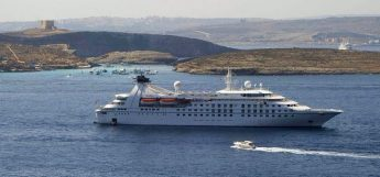 The Star Breeze calls at Gozo on cruise stopover day