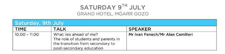 I Choose: Gozo event on further education for students & parents