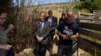 Minister for Environment Josè Herrera visits BirdLife Malta