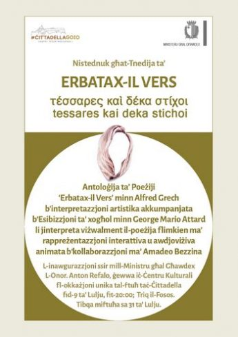 Erbatax-il Vers - Book launch and art exhibition at the Citadel