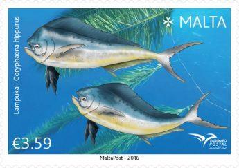 Philatelic Postage stamp issue 'Fish in the Mediterranean'