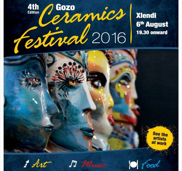 Gozo Ceramics Festival an evening of art, music and food in Xlendi