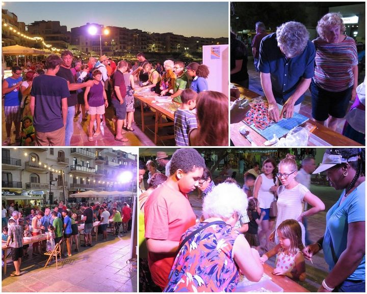 Hundreds take part in hands-on mosaic activity held in Marsalforn