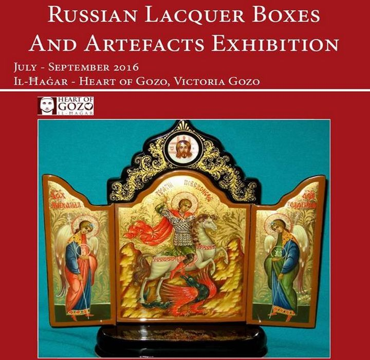 Exhibition of Russian Lacquer Boxes at Il Hagar museum, Gozo