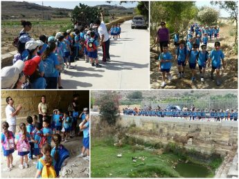 Gozitan school pupils enjoy a visit to the Marsalforn Valley nature trail