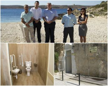Beach walkway for accessibility and new toilet inaugurated at Hondoq
