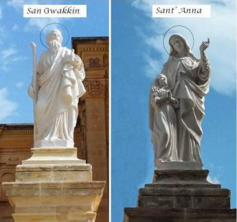 Wirt Ghawdex completes restoration of statues on Qala church parvis
