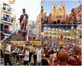 Large crowds enjoy the closing celebrations for St George's Feast