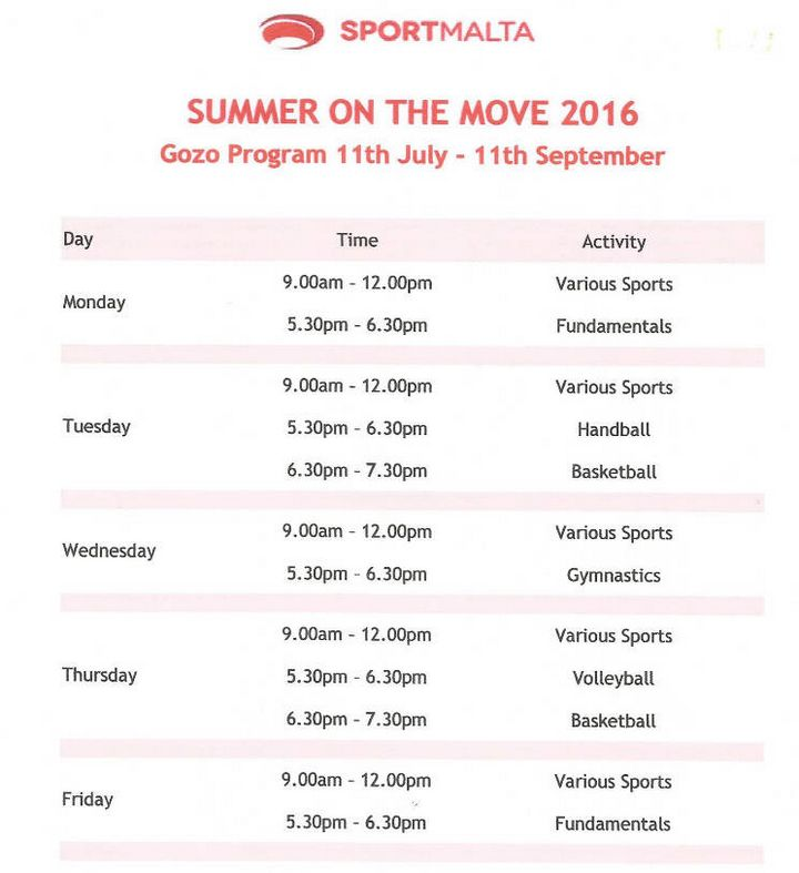 Summer On The Move Gozo programme of activities underway
