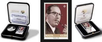 Stamp issue to mark 100th anniversary of the birth of Dom Mintoff