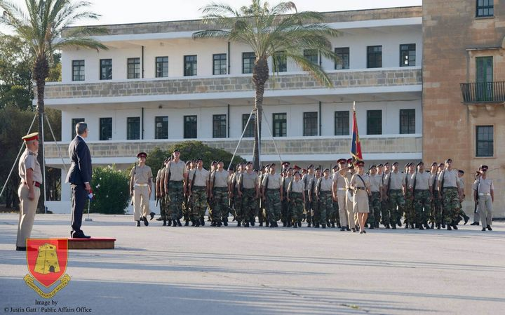 Passing Out Parade for 72 new soldiers, including 10 Gozitans