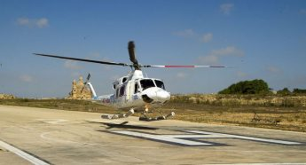Gozo Air ambulance service inaugurated - Based at heliport