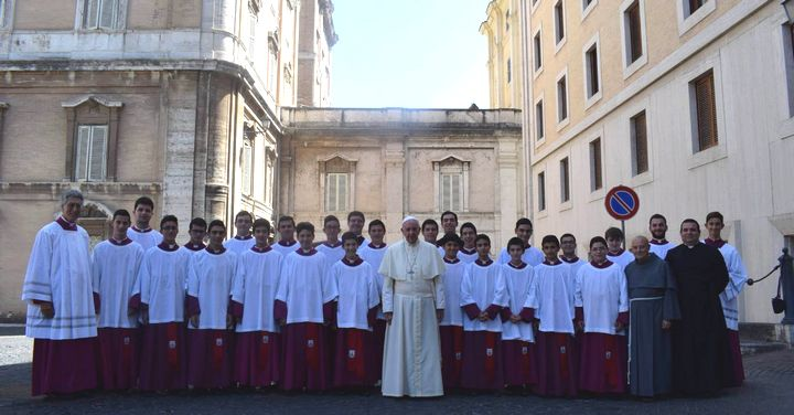Gozitan and Maltese altar boys meet Pope Francis at the Vatican