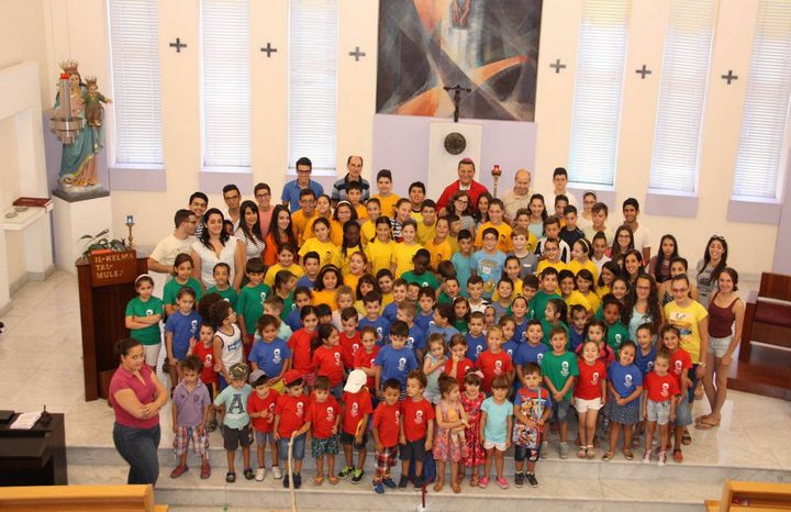Children's Mass celebrated by Bishop Grech at Don Bosco