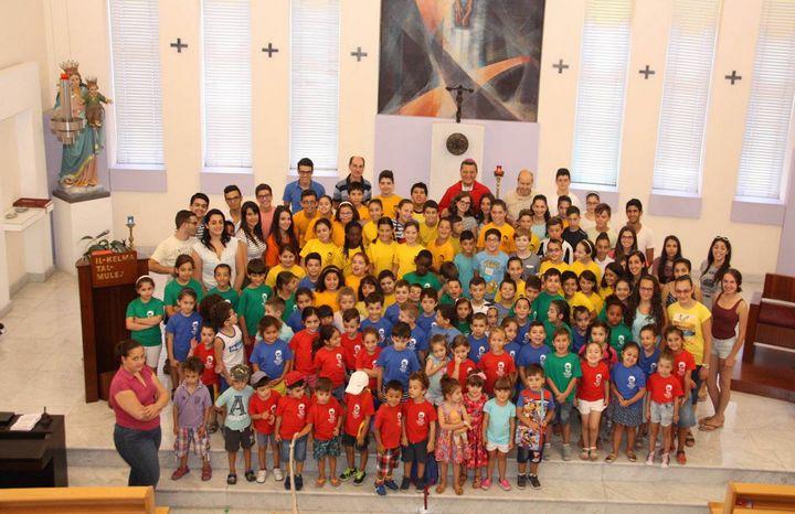 Children's Mass celebrated by Bishop Grech at Don Bosco