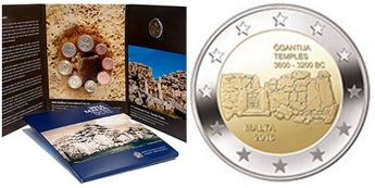 New euro coin set including €2 coin depicting Ggantija temples