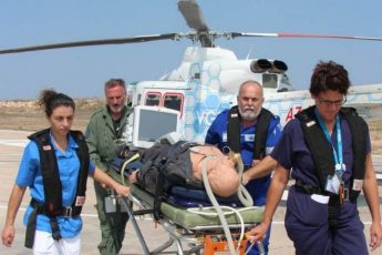 Gozo's new air ambulance medics receive training