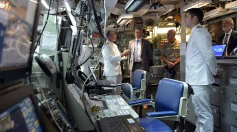 Minister Abela visits Spanish frigate on EUNAVFOR MED operation
