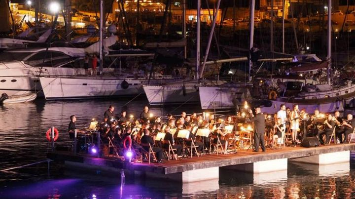 Mgarr Harbour provides the backdrop for Stage and Proms on the Sea