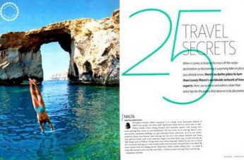 Malta & Gozo on Lonely Planet Magazine list of 25 `Travel Secrets'