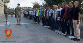 14 Gozitans among 68 new Armed Forces of Malta recruits started today