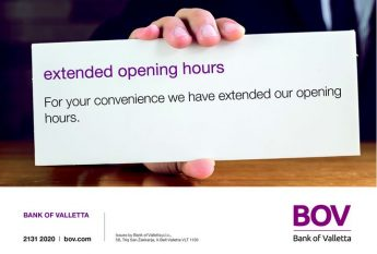Bank of Valletta extends its opening hours for the winter months