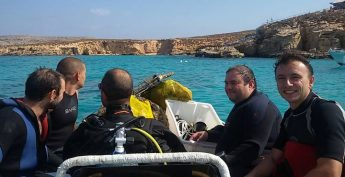 ERRC carry out underwater clean-ups around Gozo and Comino
