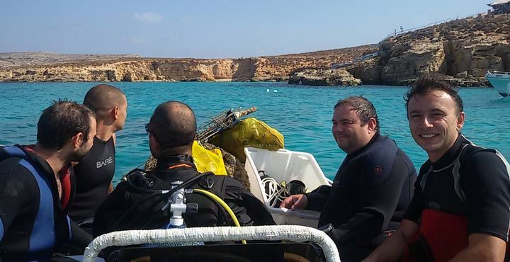 ERRC carry out underwater clean-ups from beaches in Gozo & Comino