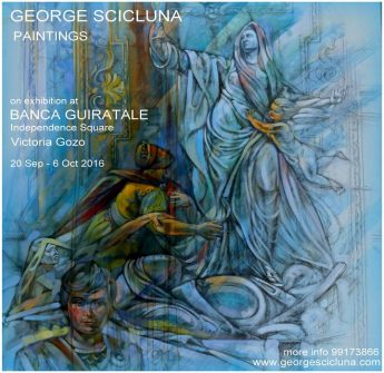 George Scicluna Paintings exhibition opens at the Banca Guiratale
