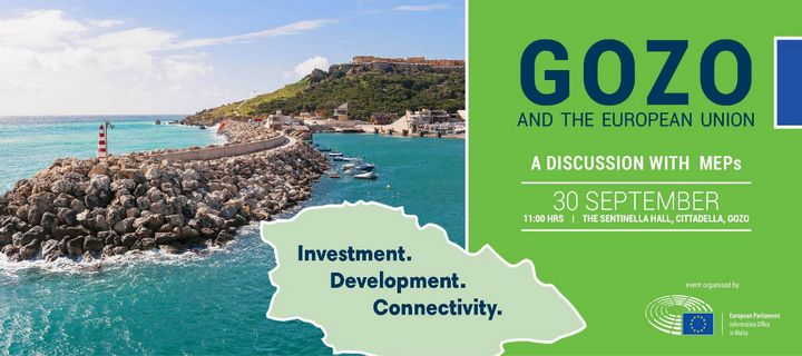 Join MEPs to discuss what challenges Gozo faces within the EU