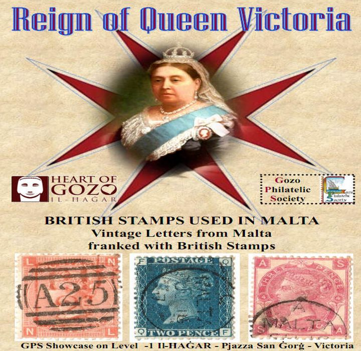 Stamps and letters from the reign of Queen Victoria: Gozo exhibition
