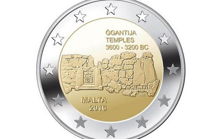 CBM issues €2 commemorative coin - Ggantija Temples