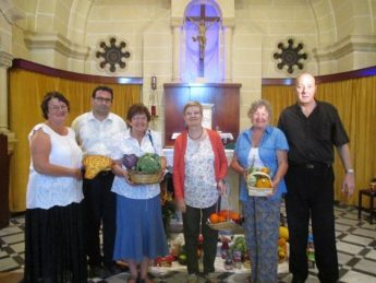 Harvest Festival food donation by the Anglican Community in Gozo