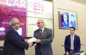 Official launch for the opera Carmen at the Teatru Aurora, Gozo