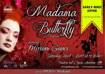 Early-bird ticket offer for Madama Butterfly at the Aurora