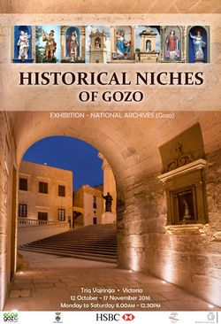 Historical Niches of Gozo - Exhibition at the National Archives Gozo