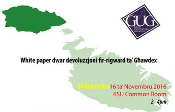 GUG debate on devolution of powers of the Gozitan political structure