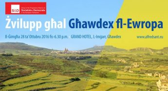 Gozo's development within Europe - Conference with MEP Alfred Sant