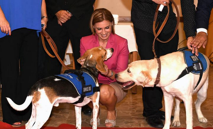 Graduation ceremony held for 2 Service Dogs - Ialta and Jack