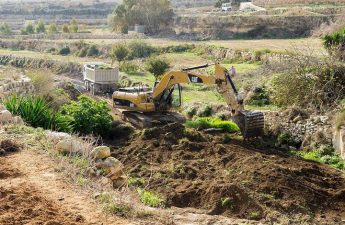 Cleaning and maintenance work underway in Mgarr in-Xini Valley