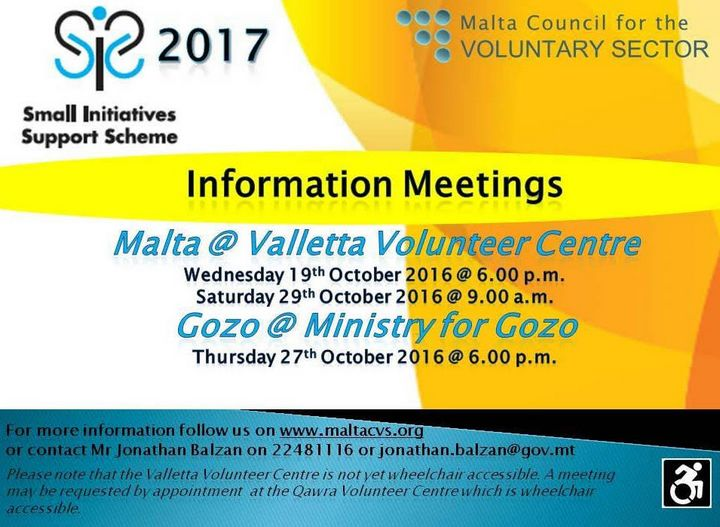 Small Initiatives Support Scheme - Gozo information meeting