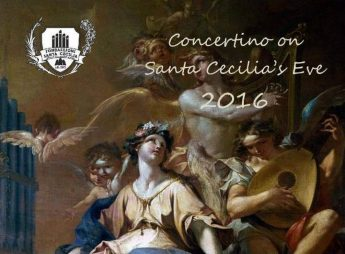 Commemorating feast of Santa Cecilia: Concertino on Santa Cecilia's Eve