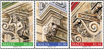 MaltaPost Treasures of Malta Series: `Balcony Corbels' stamp set
