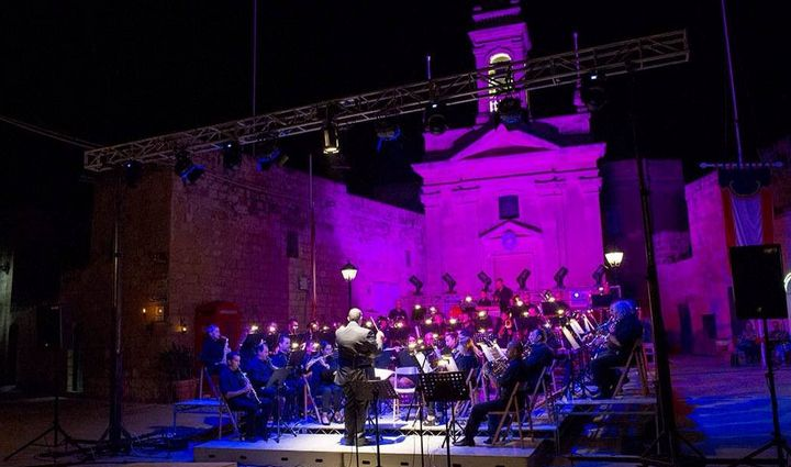 A Symphony of Lights open-air concert in Santa Lucija, Gozo