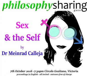 Philosophy Sharing Gozo public talk - Sex and the Self
