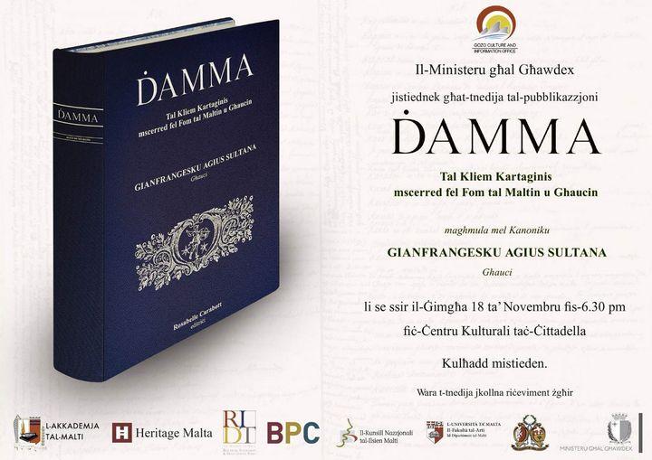 Gozo launch of the Maltese encyclopaedic dictionary - Damma