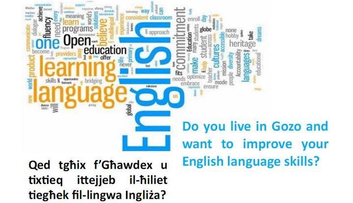 Free 15-hour course of English Lessons for adult learners in Gozo