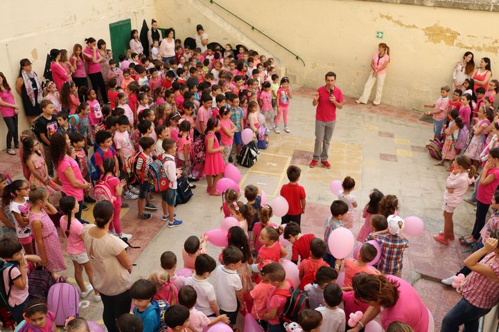 Gozo College Victoria Primary School support the Pink Campaign