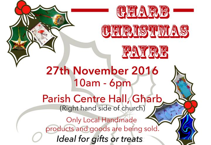 Gharb Christmas Fayre with a choice of local artisan products