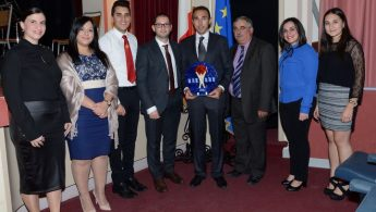 Charlton Debono presented with the `Gieh in-Nadur 2016' Award